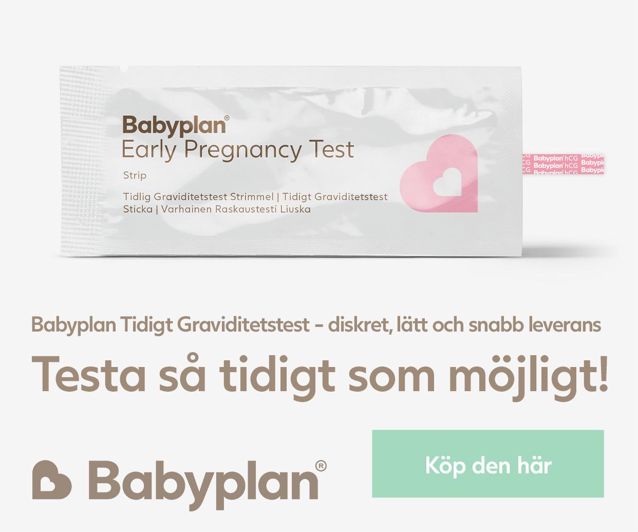 Testa så tidigt som möjligt! Köp graviditetstest här