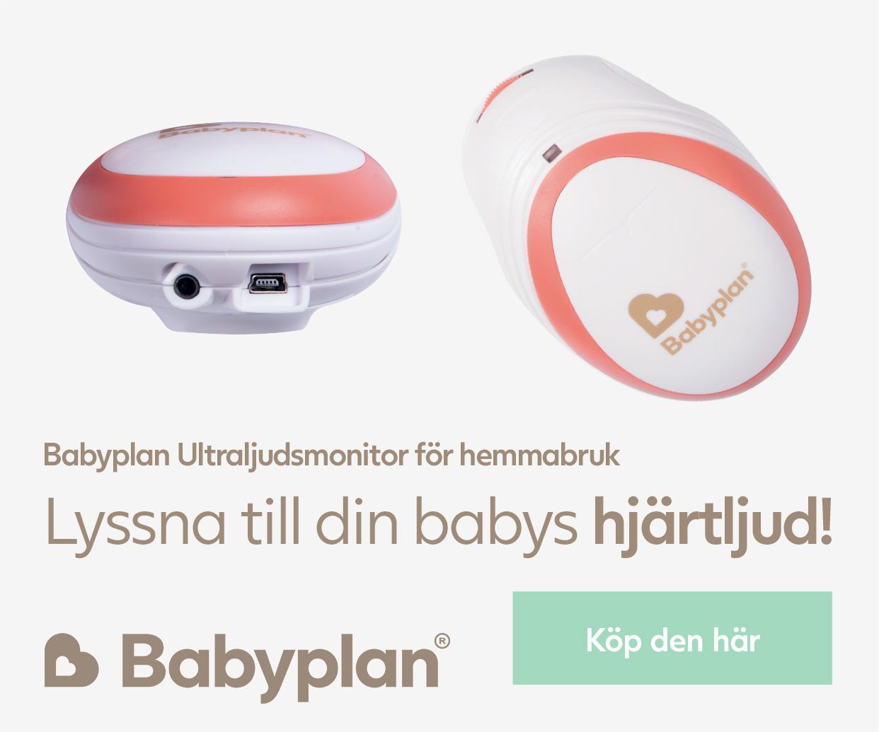 Babyplan Ultraljudsmonitor för hemmabruk. Köp den här