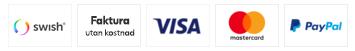 Her kan du betale med VISA, MasterCard, PayPal og Klarna